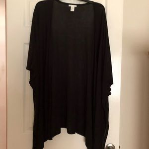 NWOT Long Black Kimono like Open Cardigan